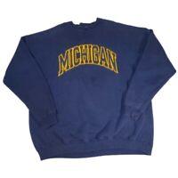 Vintage Michigan Wolverines Team Edition Crewneck Mens Sweatshirt Blue 1990 XXL