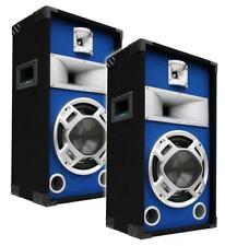 E-Lektron SPL25 Paar 400W DJ PA 3-Wege Blue-LED Lautsprecher Disco Party Boxen