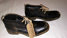 Bed Stu Men's Draco Distressed Black Leather Boots-Size 10.5-MSRP $165-New