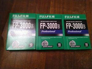 Lot of 3 Fuji Fujifilm FP-3000B instant peel apart film outdated in 2011