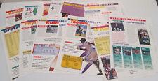 SPORTS HEROES FEATS & FACTS FOLDOUT INSERT PAPERS MICHAEL JORDAN SHAQ GRETZKY