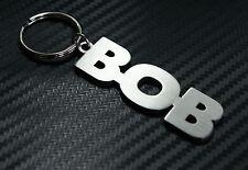 BOB Personalised Name Keyring Keychain Key Fob Bespoke Stainless Steel Gift