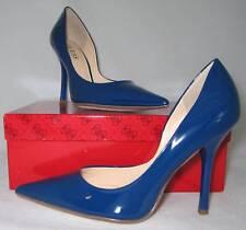 GUESS Cuir Carrie Bleu Escarpins Chaussures Neuve 37.5