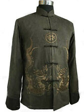 Traditional Chinese Embroider Dragon men's kung fu Jacket/Coat SZ: M-XXXL