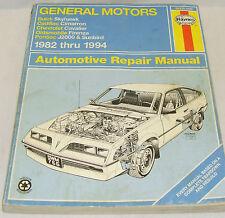 Haynes Auto Repair Manual GM 1982-1994 Buick Cardillac Chevrolet Pontiac J2000
