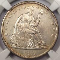 1857-O Seated Liberty Half Dollar 50C - Certified NGC AU Details - Rare Date