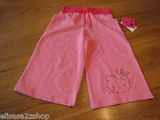 Girls Hello Kitty pink shorts Bermuda HK with Crown RS DLP 5 HK55406 NWT*^