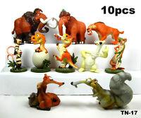 10pcs set Ice Age The Meltdown Buck Ellie Scrat Dinosaur Action Figure dolls toy