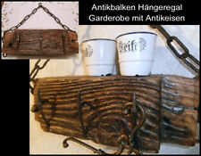 UNIKAT antik Balkenregal Regal Garderobe Ablage Antikeisen Antikholz ~1870 (84-5