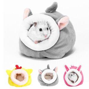 Pet Guinea Pig Mini Bed House Hamster Rat Hammock Nest Pad Warm Small Animal UK