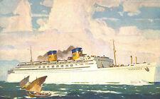 S.S.Matsonia,Twin Stack Ocean Liner,Calif-Hawaii,Matson Nav.Co,Postcard.1937