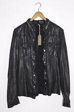 **AWESOME SAUCE RARE!! AllSaints Mens PHANTON Leather Shirt Jacket MEDIUM Meuse