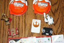 Kinder Joy 2018 Star Wars Mini Toy - STORMTROOPER & C3PO And Rey, parts missing