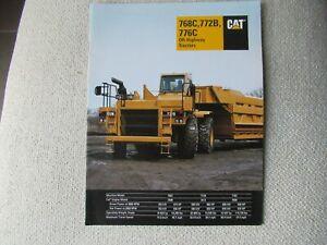 1994 CAT Caterpillar 768C 772B 776C off-highway tractor truck hauler brochure