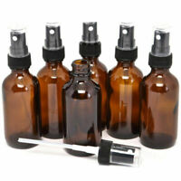 5-100ML Empty Amber Glass Spray Bottle Essential Oil Mist Travel Container