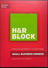H&R Block Tax Software Premium Small Business Owners 2016  /  PC CD-ROM