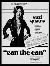 """Suzi Quatro Can the Can 16"""" x 12"""" Photo Repro Promo Poster"""