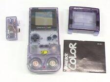 Vintage Nintendo Game Boy Color Purple + Mad Cats Accessories, 7 Games & Case