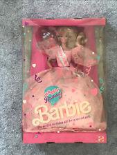 1990 Happy Birthday Barbie Doll  MIB Mattel slightly damaged box