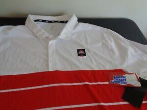 OHIO STATE BUCKEYES Men's NIKE Polo XXL Shirt 2XL Coaching Golf NEW Free Ship