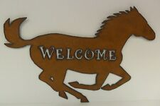 Metal Horse Welcome Sign - Made in USA!!!!