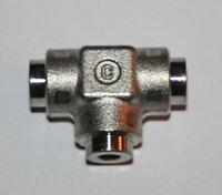 """1/8"""" OD Tube Socket Weld Union Tee 316ss  Cajon / Swagelok SS-2-TSW-3"""