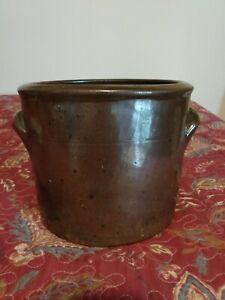 Antique Alkaline Glaze Crock