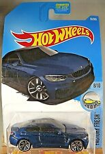 2017 Hot Wheels #55 FACTORY FRESH 8/10 BMW M4 Dark Blue w/Chrome J5 Spoke Wheels