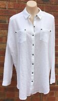 Free People Long sleeve shirt white size fit AUS 14 NWOT (fp43)