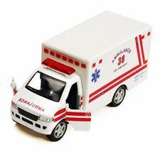 "Kinsmart 5.25"" Diecast Model truck Rescue Medical Emergency Ambulance White"