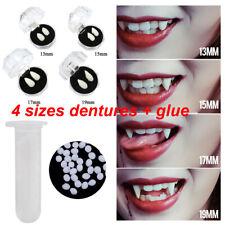 Fake Vampire Teeth + Solid Glue Fangs Dentures Props Halloween Costume Cosplay