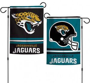 "Jacksonville Jaguars NFL Garden Flag Double Sided Licensed 12"" x 18"""