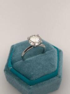 4.00 Ct ROUND CUT DIAMOND SOLITAIRE ENGAGEMENT RING 14K WHITE GOLD F SI1