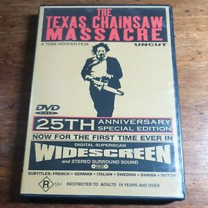 The Texas Chainsaw Massacre 25th Anniversary Special Edition DVD R4  FREE POST