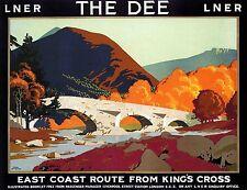 TS65 Vintage Lancashire Derbyshire East Coast Railway Travel Poster Re-Print A4