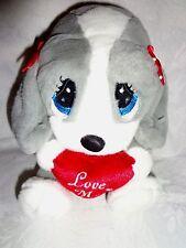 """Sad Sam & Honey Love Me Sad Sam & Honey Dog 8"""" Plush Soft Toy Stuffed Animal"""