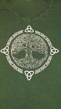 Celtic Tree T-shirt, size Large, Super Soft, Green