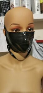 Latex  face mask fetish  black   new 0.40 thickness