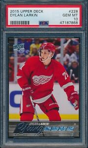 2015 UPPER DECK DYLAN LARKIN YOUNG GUNS ROOKIE #228 PSA 10!