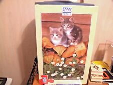 F.X. Schmid Domestic Cats On Pile Of Wood 2000 Piece Puzzle