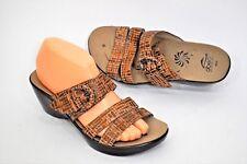 LN! Abeo Dorin BIO system Textured Brown 2 Strap Adjustable Sandals Neutral 8N