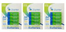 12 x Starmo AA MN1500 1200mAh HR6/1.2V Rechargeable Batteries NiMH Ready To Use