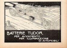 Pubblicità vintage Tudor batterie auto werbung old advertising reklame A4