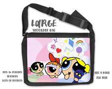 Powerpuff Girls Messenger Shoulder Personalised Travel College School Bag  PG1