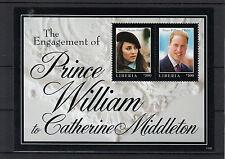 Liberia 2011 MNH Royal Engagement 2v S/S II Prince William Kate Middleton
