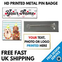 Custom Printed Lapel Pin Badges • Bespoke High Resolution Print Logo Image Badge