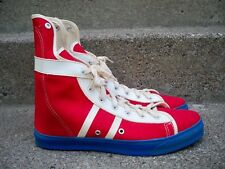 Vtg CONVERSE Phil Esposito Red Canvas High Top Men's Sneakers Kicks Shoes 11.5