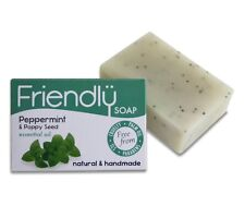 Friendly Soap Peppermint & Poppy Seed Soap - Natural & Handmade 95g (Pack of 2)