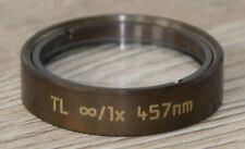 Leica MICROSCOPIO Microscope Tubus lente TL ∞/1x 457nm (Leica n. 100573)