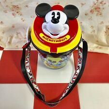 TOKYO DISNEYLAND Mickey Mouse Face POPCORN BUCKET USED SNACK CASE